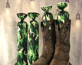 Camo Boot Stuffers - Father's Day Gift - Boot Freshener - Gray, Green, Digital and Brown Patterns - Boot Shaper - Boot Tree - Boot Buddies!
