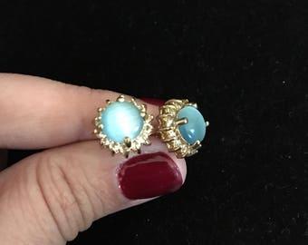 Blue Stone Earring Studs