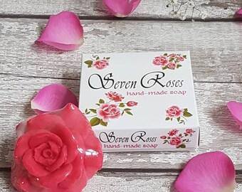 "Natural glycerin soap hand made ""Seven Roses"" 50 gr"