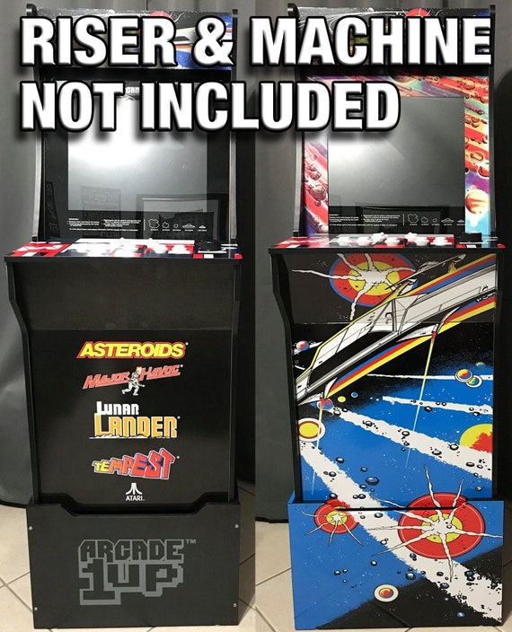 Arcade1up Cabinet Riser Graphics - Asteroids Asteroid Graphic Sticker Decal  Set - For Arcade 1 Up Machine