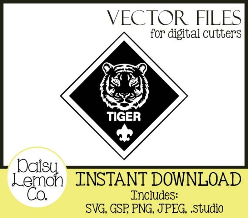 Vector File Tiger Insignia Scouts Cub Boy Svg Cutting Etsy