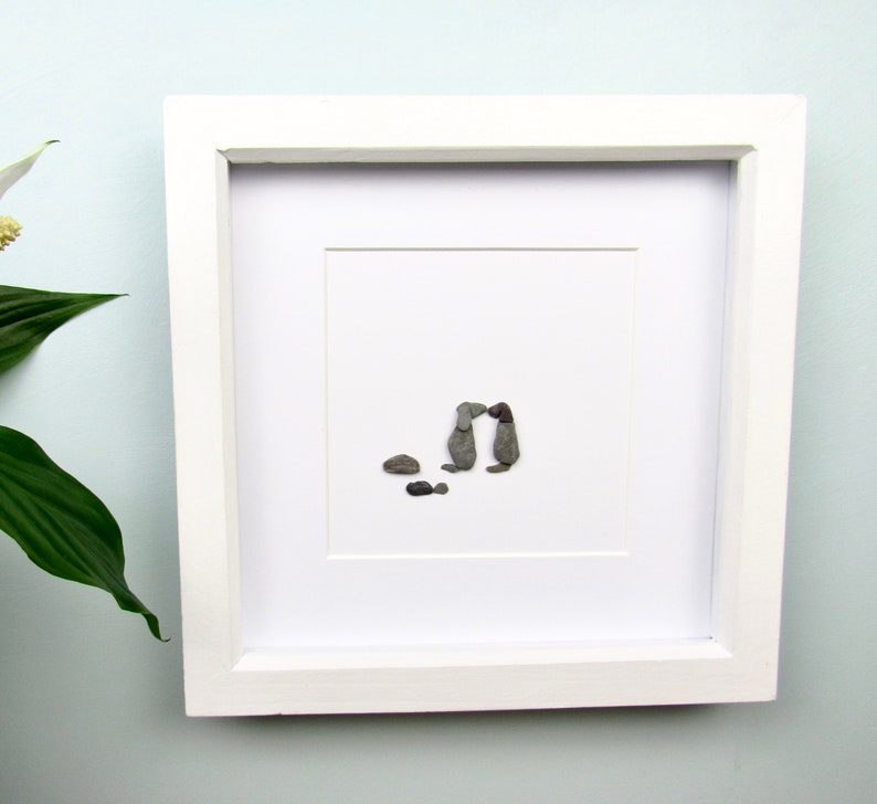 dog lover gift family art dog wall frame man/'s best friend dog present best friend puppy frame dog pebble picture pebble art