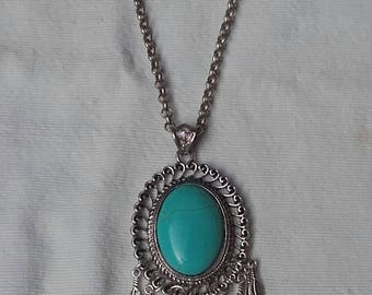 Navajo necklace Pendant frame styled hair curler silver beautiful Navajo light with 30 percent dto.
