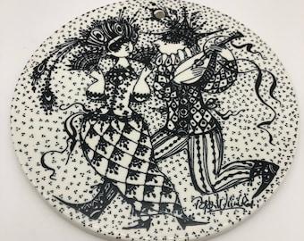 germany copenhagen Rare Nymolle Denmark Arena Artist Collectible Plate Bjorn Wiinblad 1967 1968 Rosenthal porcelain studio design line
