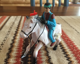 RARE Vintage Echo Wild West Wind Up Toy - Galloping Action Indian - Wild  West - Riding Horse Indian - Tally Ho!!! 492ca8621402b