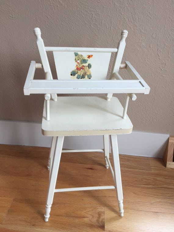 image 0 - Vintage Doll High Chair 50's Baby Doll High Chair Etsy