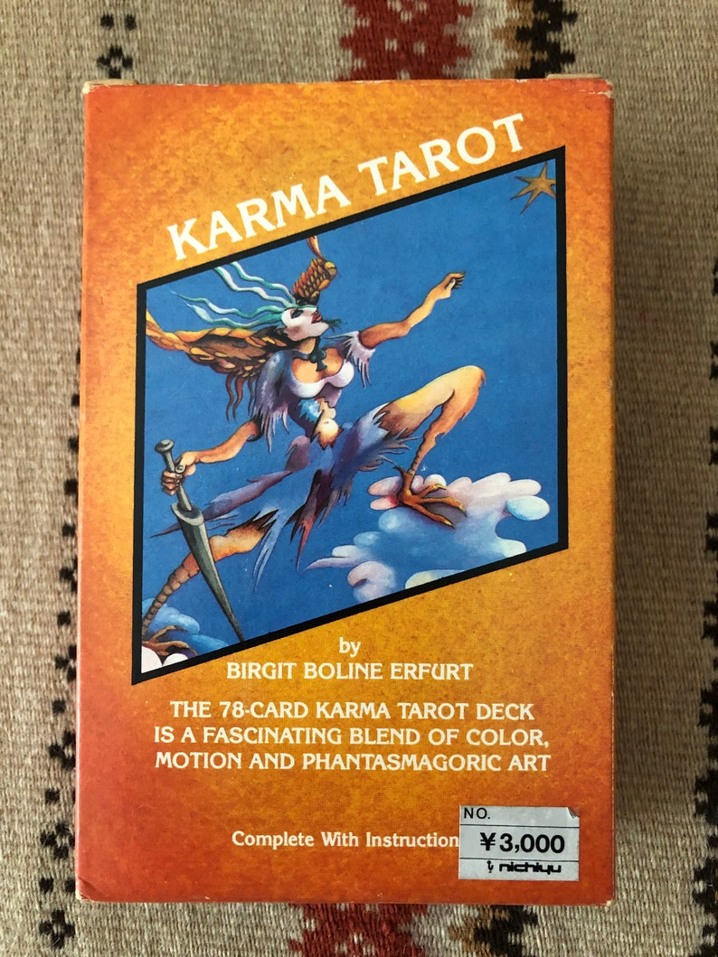 KARMA TAROT - Vintage Tarot Deck- Danish - Christiania - Denmark