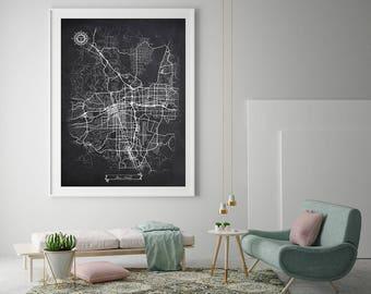 Reno Map Etsy - Street map of reno nv