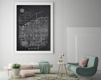 mesa az city map etsy