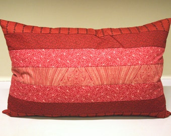 Pillow Red Patchwork Home decoration and comfort