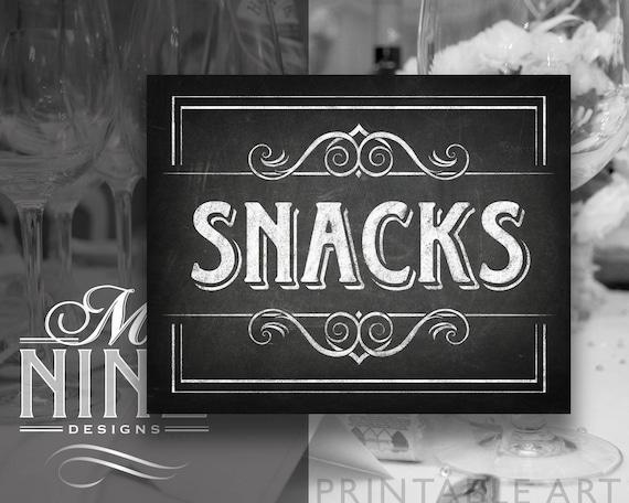 chalkboard party printables snacks sign downloads etsy