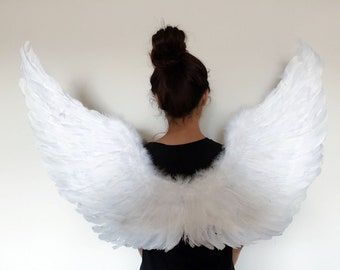 046d641d2a Turkey and goose Feather White Angel Wings Costume