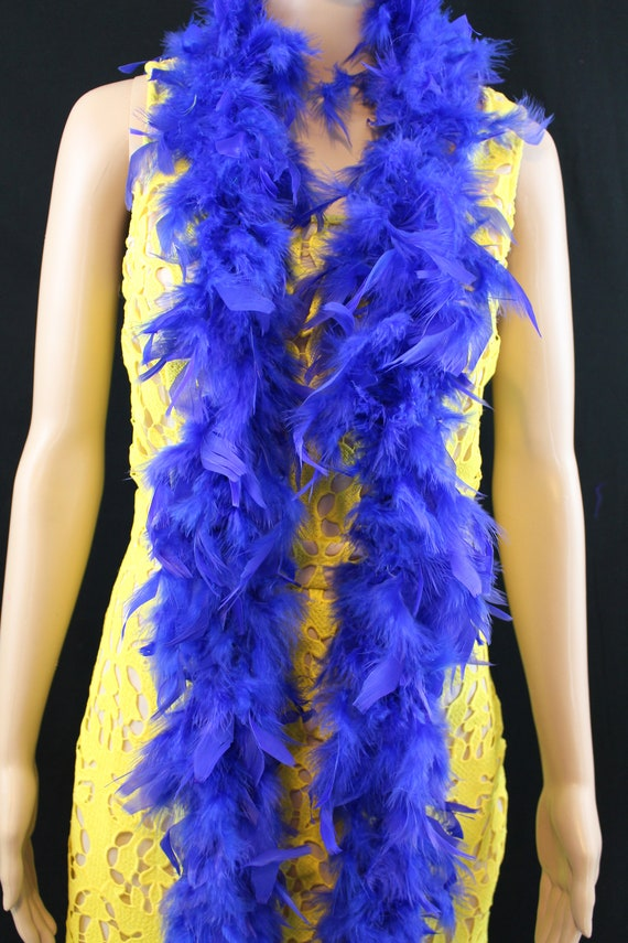 Royal Blue Soft Turkey Chandelle Feather Boa Over 18 Color 40 Gram 72 Long Dancing Wedding Crafting Party Dress Up Halloween Costume Decoration