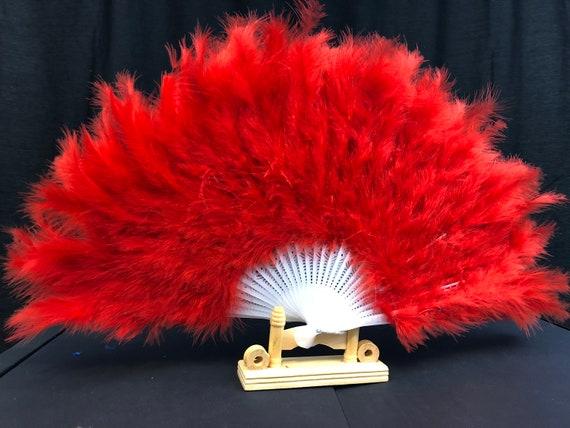 "Burlesq Lime Green Large Turkey Marabou Feather Fan 21/""X12/"" For Dancing Wedding"
