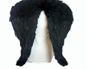 Black Turkey and goose Feather Black Angel Wings Costume, Party, Photography Fun Dress Up Angel Wing - 25