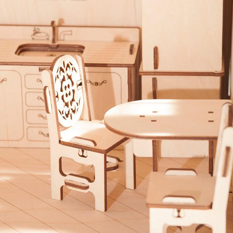 without furniture Modern Dollhouse waldorf dolhouse Girls doll house DIY unassambled handmade wood toys playhouse Wood doll house