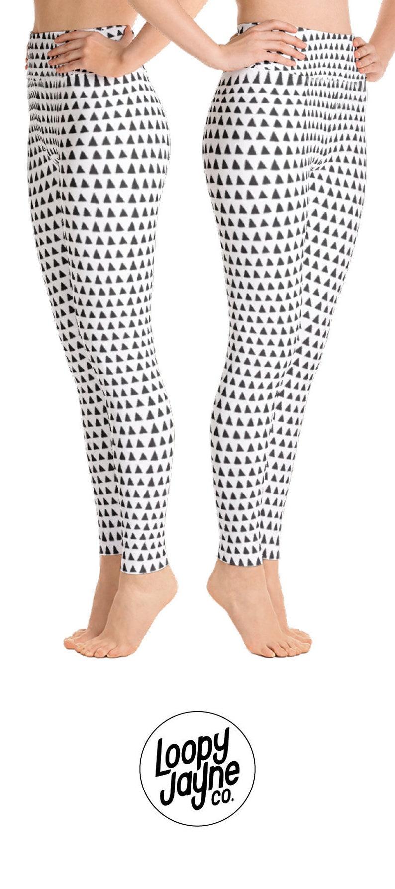 14c77e4db0 Triangle Yoga Leggings Workout Leggings Yoga Pants Women | Etsy