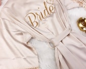 BIG SALE Bridesmaid Robes Silky Lace Robe, Bridesmaid Robes, Bride Robe, Bridal Party Robes Bridesmaid Gifts, Lace Trim, Wedding Gifts