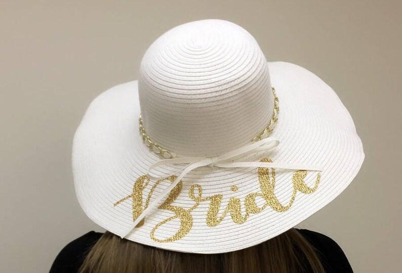 82a8b295257e5 HIGH QUALITY Bridesmaid beach hat bride Floppy Beach Hat