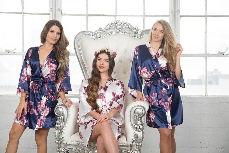 8c3812c31a1c6 2019 NEWEST DESIGN Adult & Kids Floral Satin Bridal Robes | Etsy