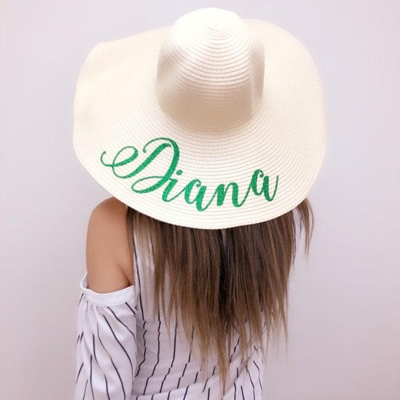 l'ultimo godere del prezzo di sconto prezzi economici GRANDE VENDITA!!! Cappello della spiaggia di damigella d'onore, sposa  cappello spiaggia Floppy, Floppy cappello da sole, cappello sposa, cappello  ...