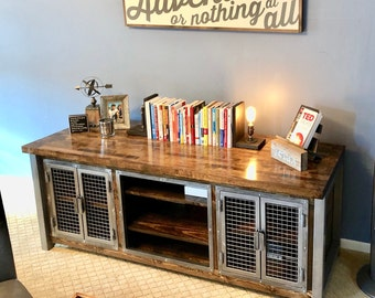 Merveilleux Industrial Console Credenza / Rustic Media Center / Urban Modern  Entertainment Center / Rustic Office Furniture / Industrial Home