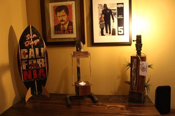 Support de bougie rustique swing applique de bureau décor