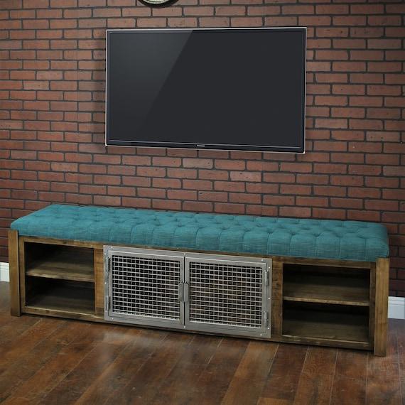 Prime Ottoman Cabinet Bench Soft Cushion Top Fully Custom Credenza Rustic Furniture Farmhouse Modern Industrial Creativecarmelina Interior Chair Design Creativecarmelinacom