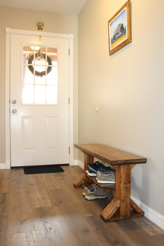 Awesome Farmhouse Entry Bench Shoe Rack Storage Bench Shoe Bench Farm Style Bench Handmade Made To Order Entryway Rustic Bench Gmtry Best Dining Table And Chair Ideas Images Gmtryco