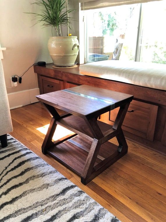 Marvelous Modern End Table Living Room Side Table Handmade Office Sofa Table Steel Wood Table Industrial Rustic Contemporary Furniture Evergreenethics Interior Chair Design Evergreenethicsorg