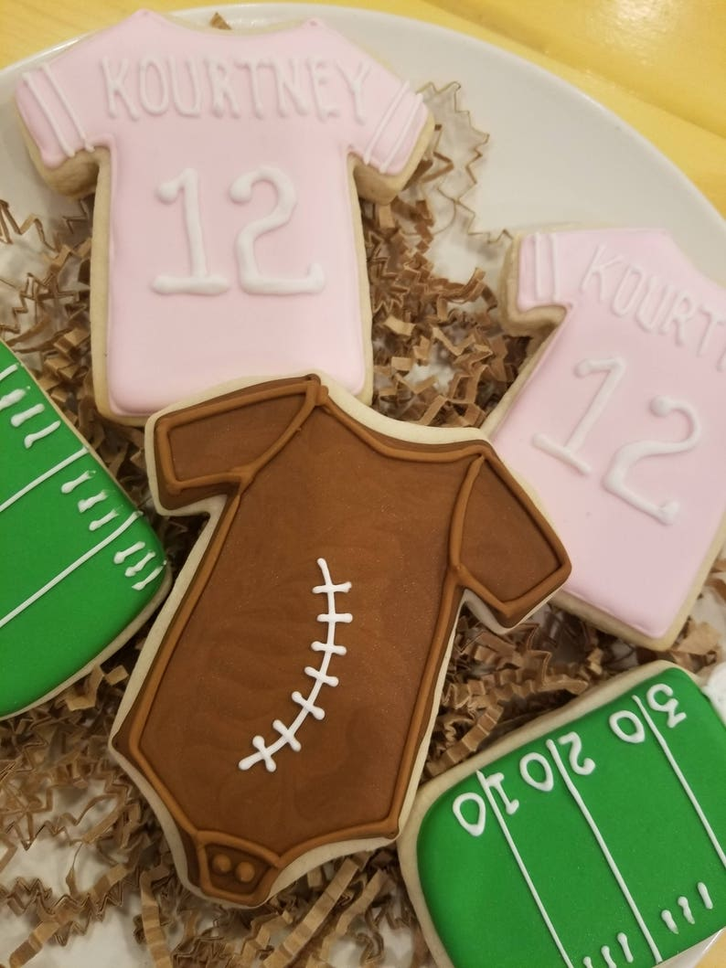 Sports Baby Shower Cookies image 0