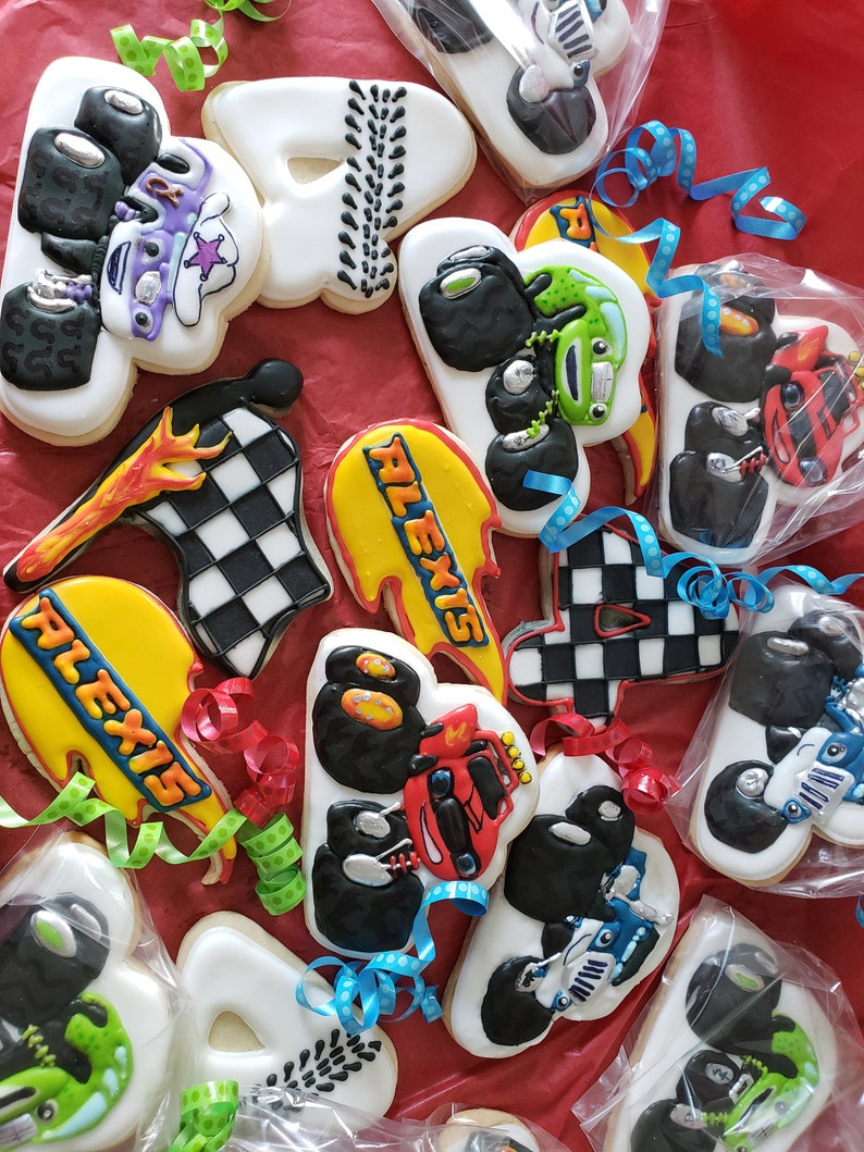 Blaze and the Monster Machines Inspired Cookies image 0