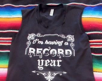5098e1ad0ce82b I m having a record year  Tattered   Torn Vintage muscle tank