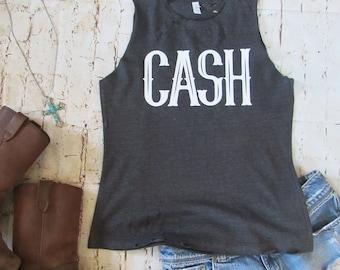 68058425d66fbf CASH  Johnny Cash  Distressed muscle tank