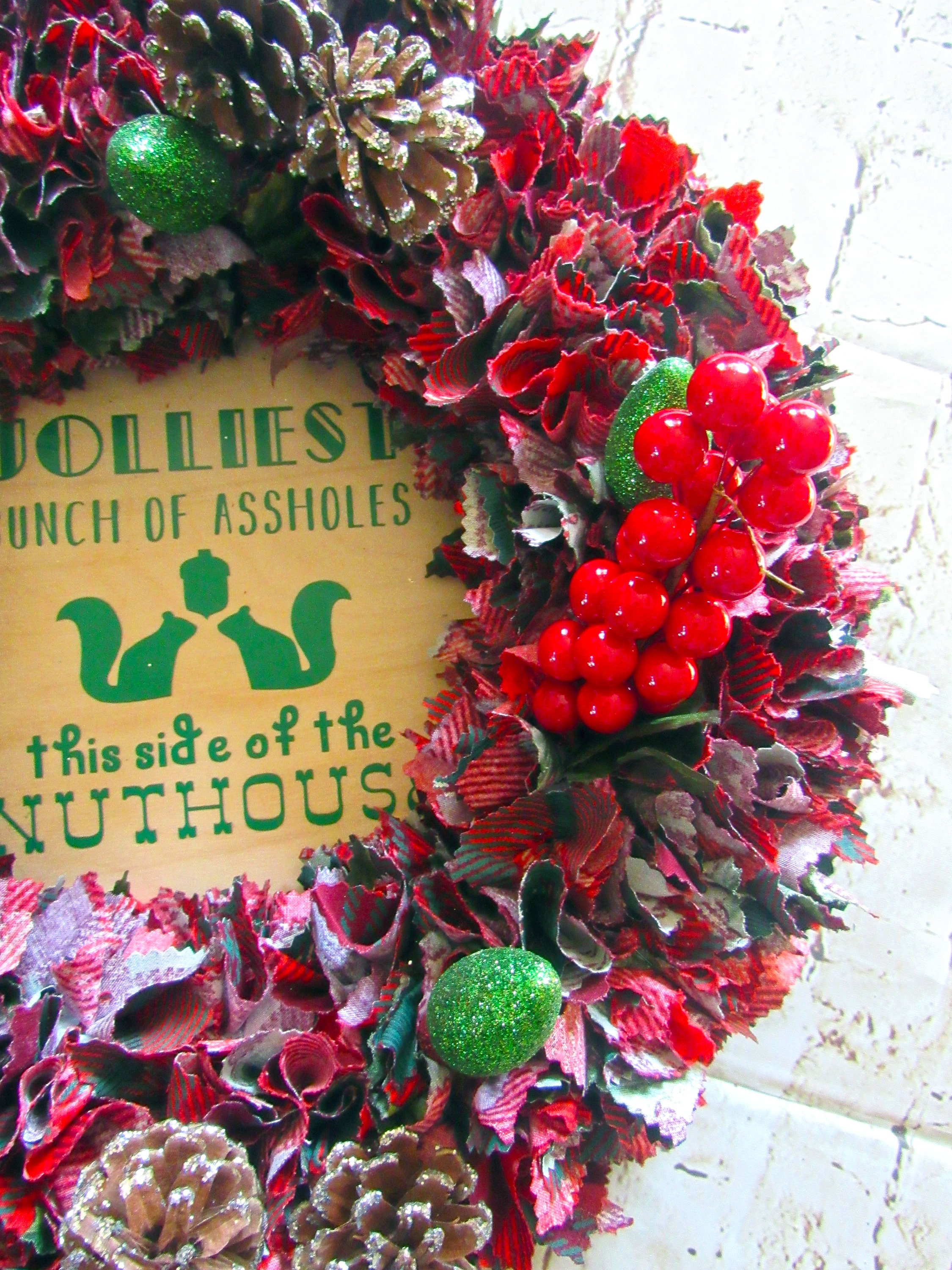 National Lampoons Christmas Vacation wreath/ Jolliest bunch of a ...