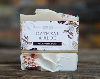 Oatmeal Soap - Vegan Soap - Unscented Soap - All Natural Soap - Aloe Vera Soap - Colloidal Oatmeal Soap - Avocado Butter - Vegan Friendly