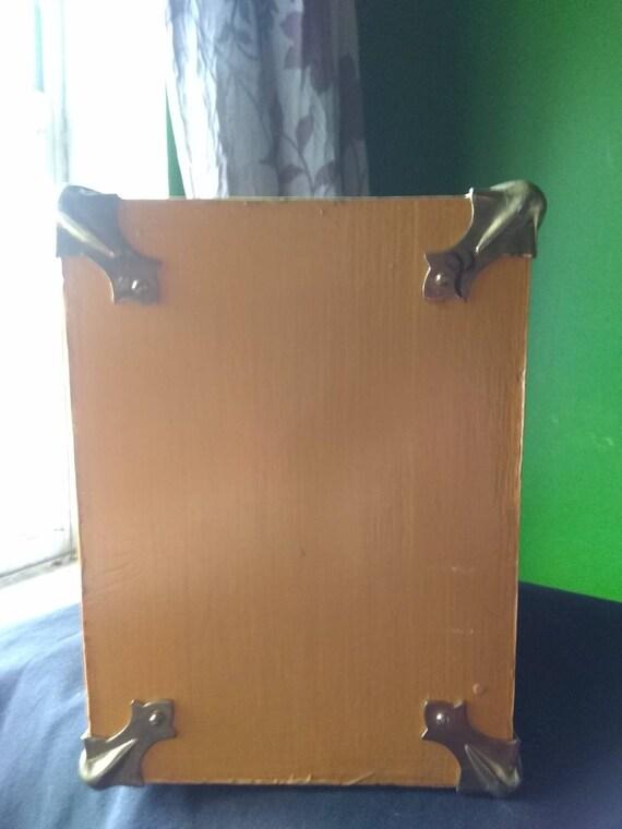 Box Purse Vintage Wooden Box Purse Owl - image 6