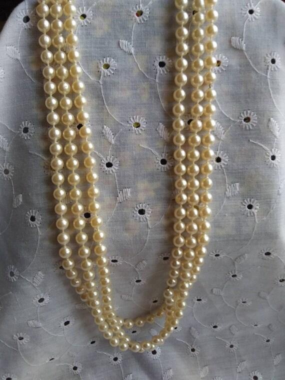 Vintage Faux Pearl Necklaces - image 1