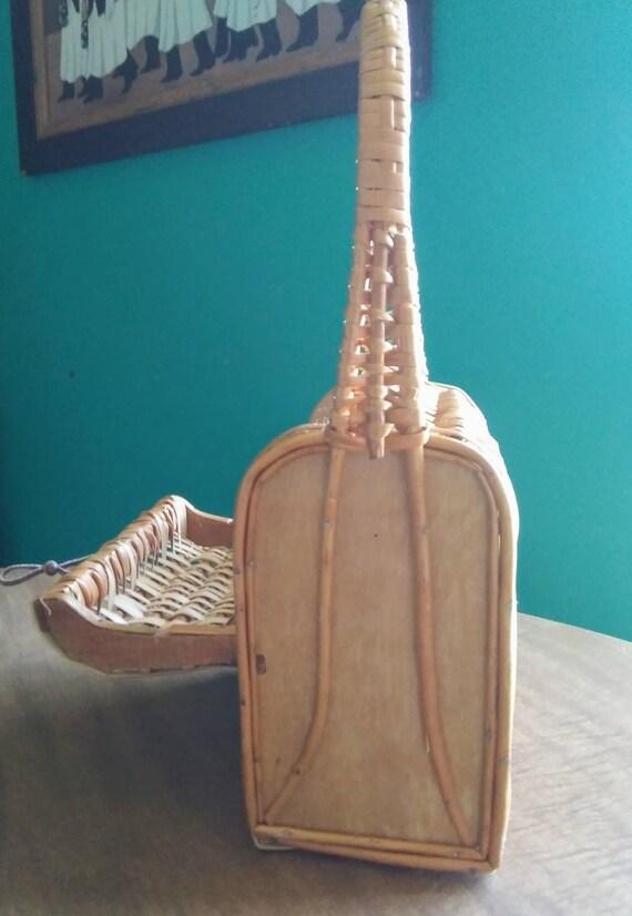 Vintage Wicker Basket Purse 1950's Wicker Purse - image 4