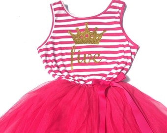 Girl s Hot Pink BIRTHDAY TUTU DRESS 1st 2nd 3rd 4th 5th Birthday Outfit  Cake Smash Party Birthday Girl Gift Present Love Celebrate 84dd52b4a0e2