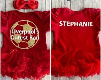 Liverpool plus jolies Fan Personnalisé Babygrow Ange