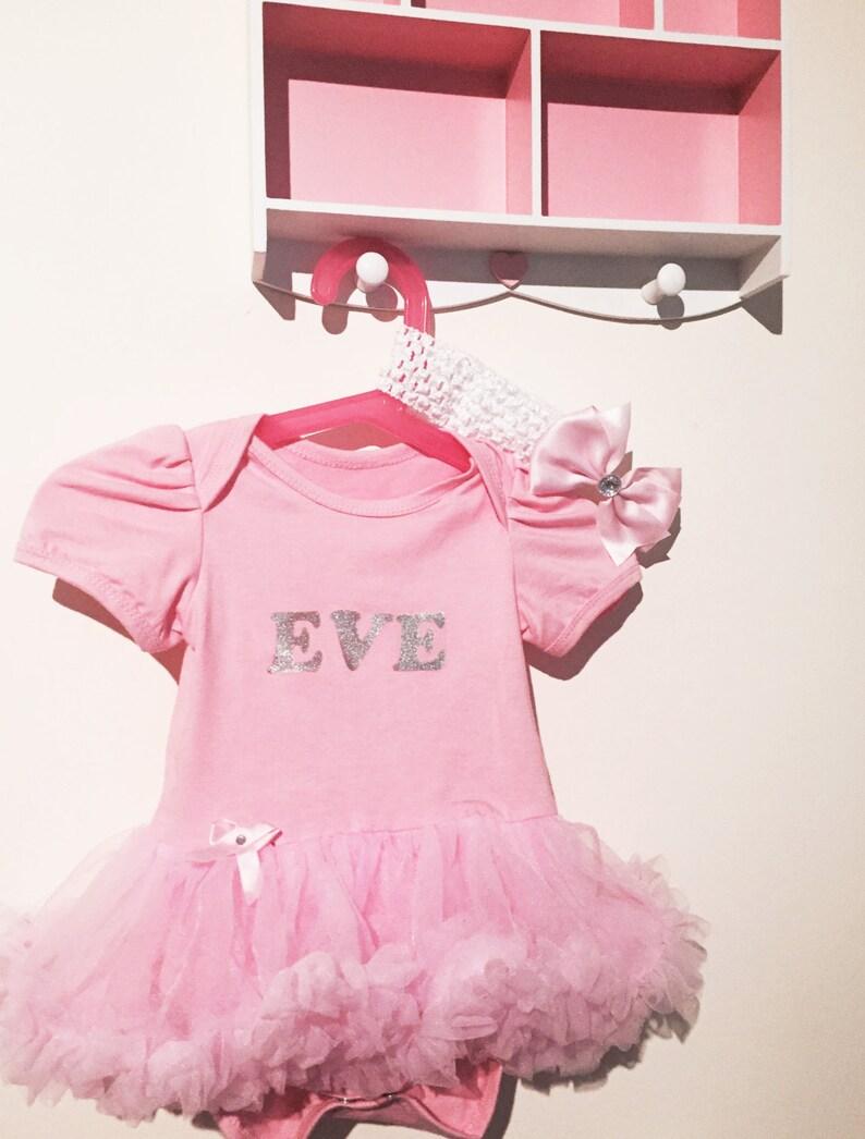 d329ce260db5 Personalizada Custom hecha bebé niña rosa tutu romper juego | Etsy