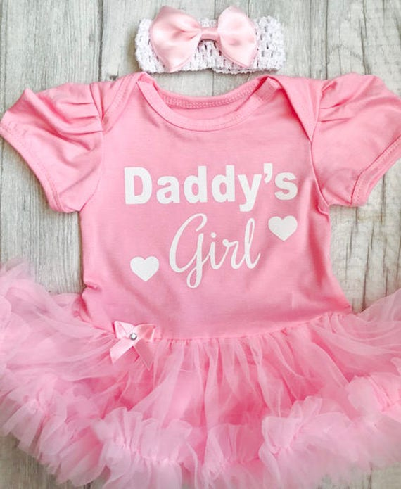 BABY Newborn GIRL pink princess tutu romper dress DADDY Father/'s Day Gift LOVE