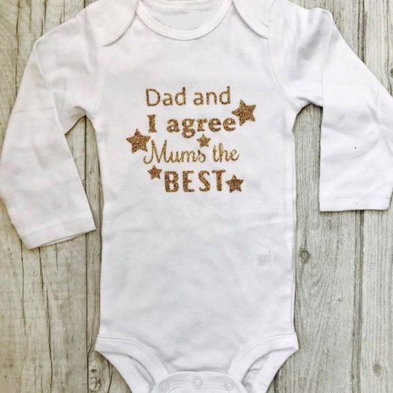 Romper Love You MUM Mother/'s Day Baby Outfit Unique Message Present Mother/'s Day Cute Gift Gift For Mummy From Daddy and their Baby
