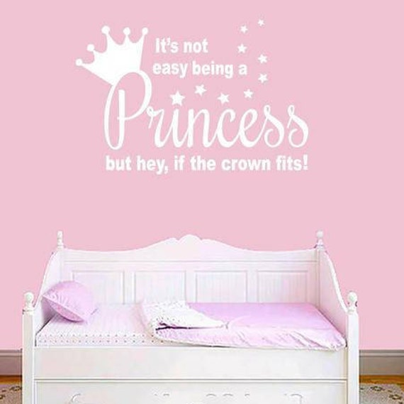 Blanc princesse devis Wall Wall Art Sticker, décoration chambre d ...