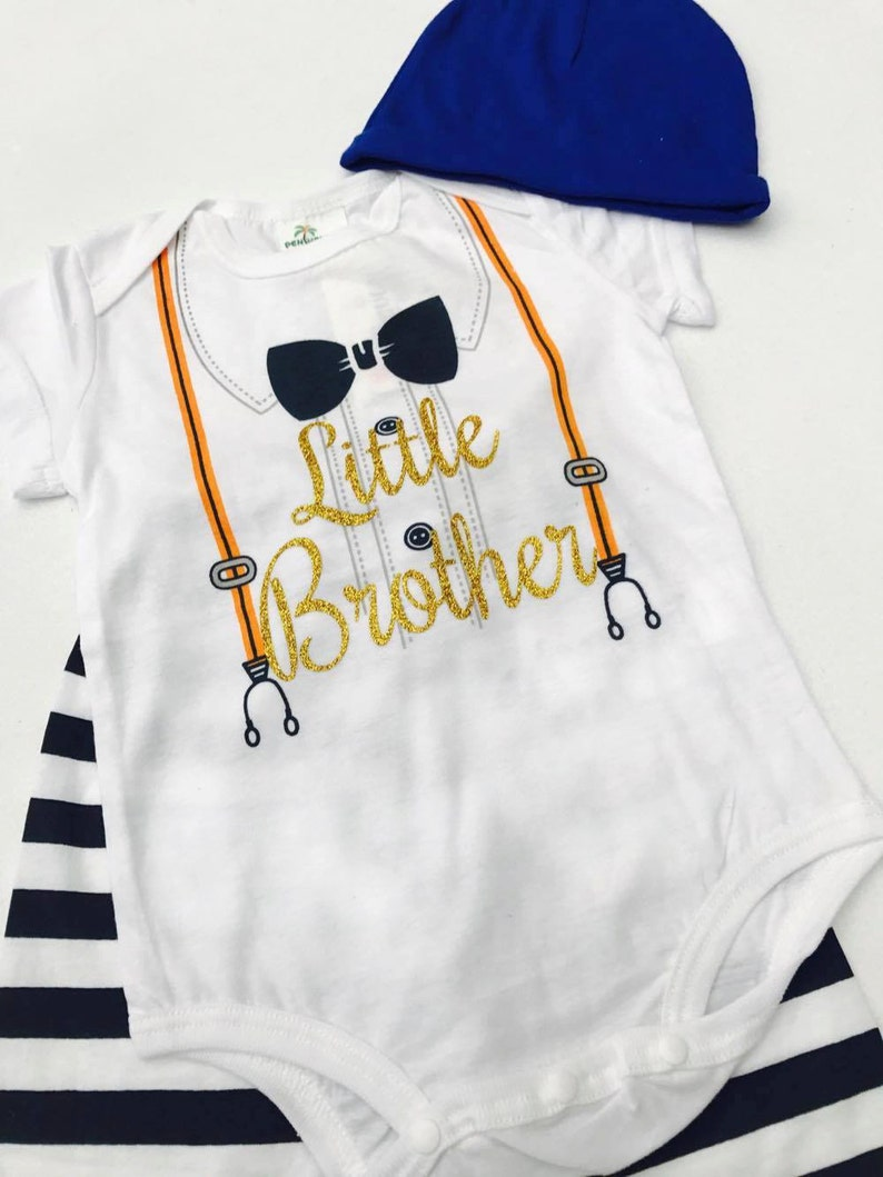 Little Brother Outfit Birthday Baby Shower Gift Present