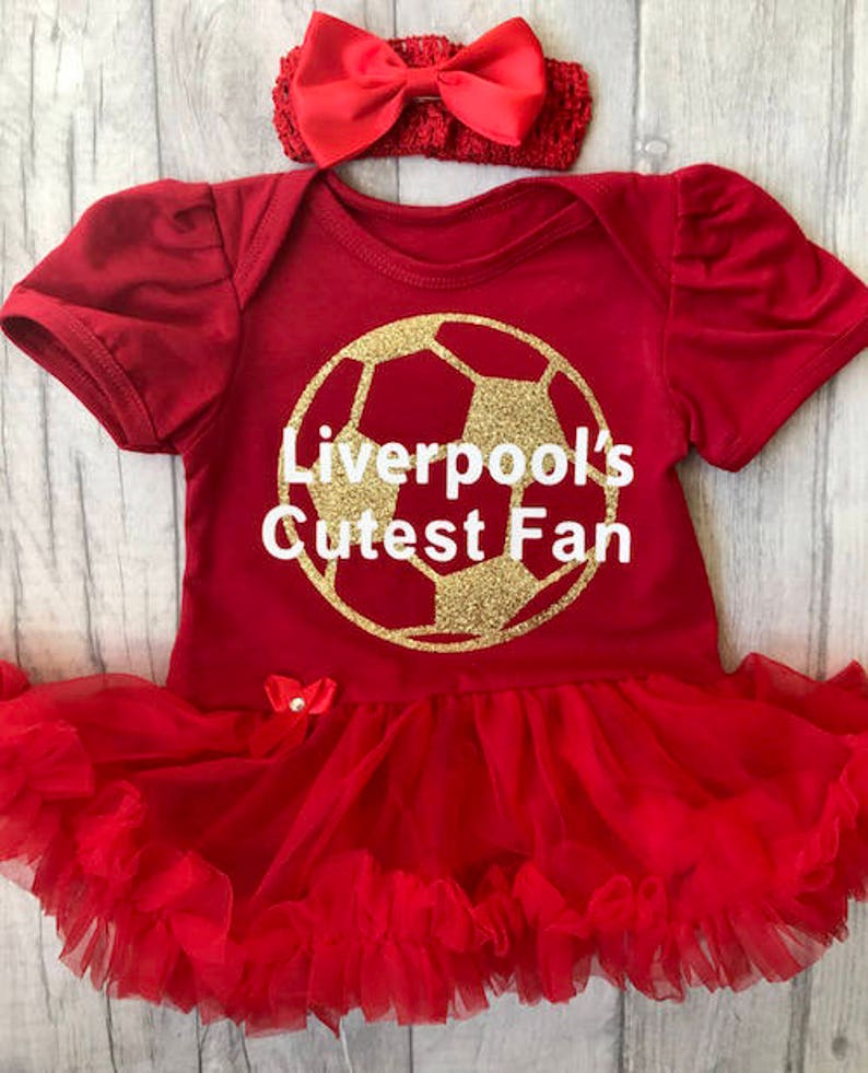 68eb48e3bd6 Liverpool s Cutest Fan Baby girl red tutu romper with
