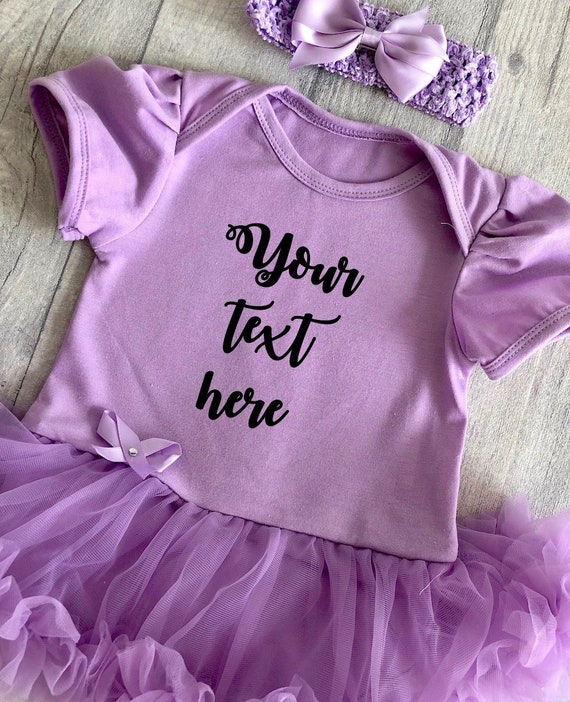 BABY GIRLS PLAIN PURPLE TUTU ROMPER DRESS Princess NEWBORN Present Cute Love