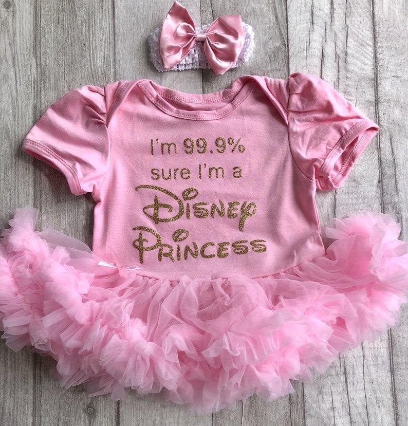f66340c1e Baby Girl 99.9% sure I m a Disney Princess Pink tutu