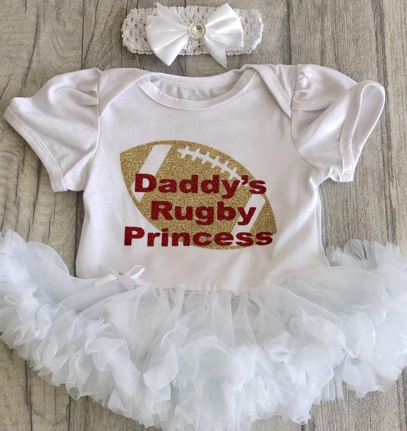 England RFU Baby Girls Tutu BodysuitWhite2019//20